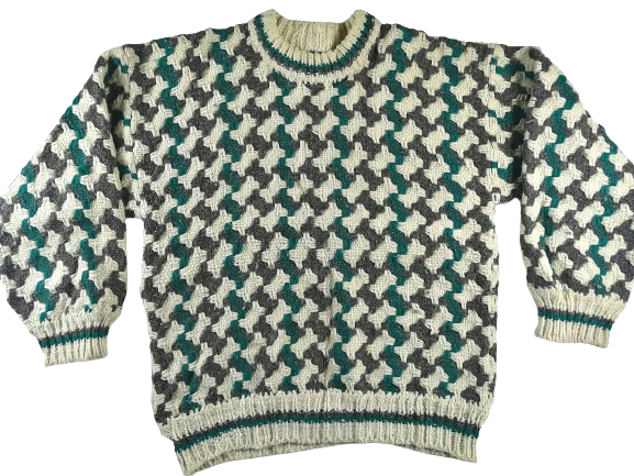 70's vintage super chunky crew neck sweater L