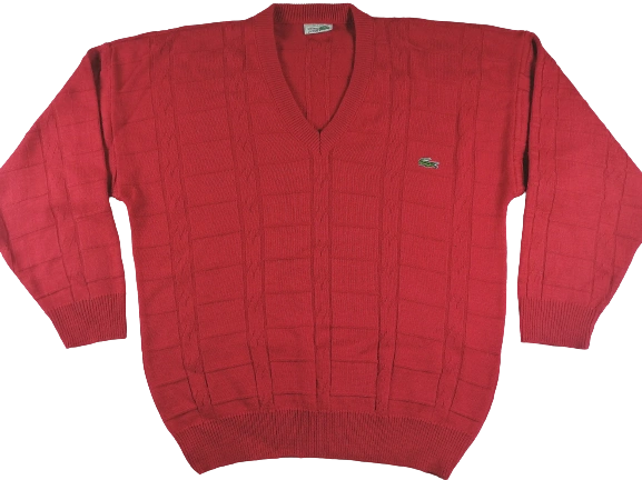 1980's oldskool chemise lacoste jumper UK XXL