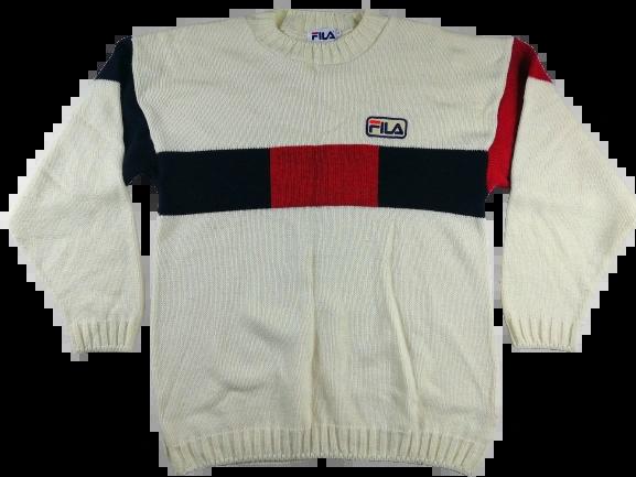 02' original vintage fila wool sweater UK M