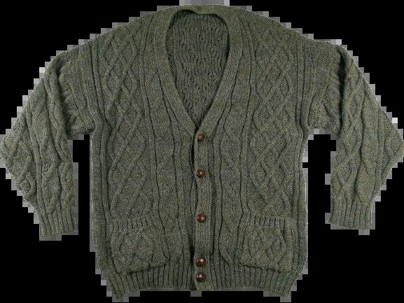 Original vintage chunky knit mens cardigan UK XL