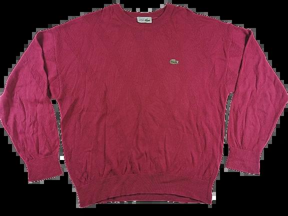 UK XXL chemise lacoste crew neck jumper 1980's