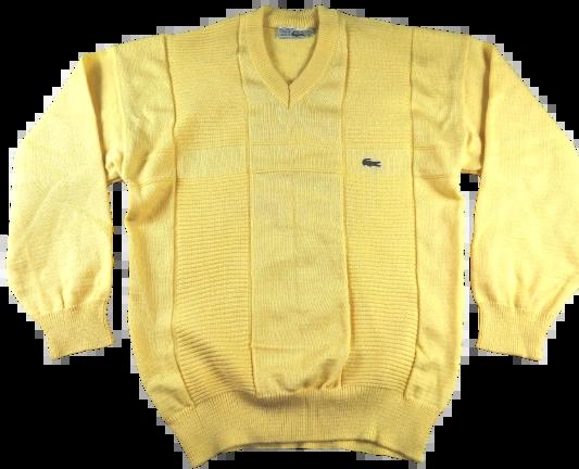 UK M vintage lacoste v neck jumper 1983