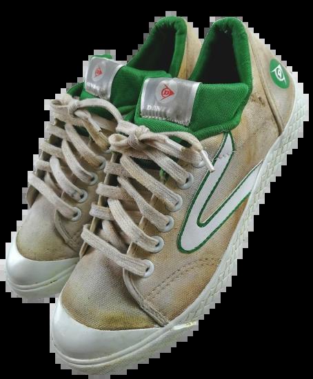 1994 original dunlop green flash trainers UK 8