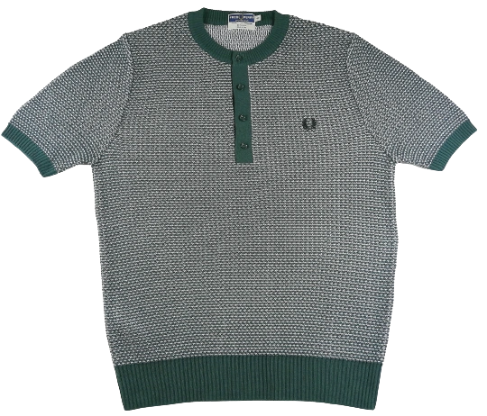 UK L Knitted fred perry polo jumper
