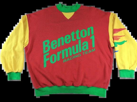 UK XL Original benetton spellout SWEATSHIRT 1984