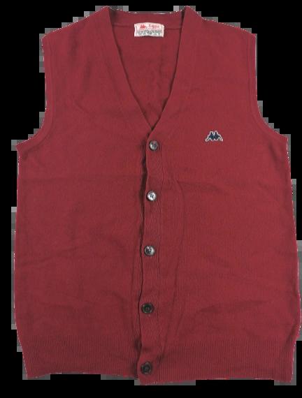 80's oldskool kappa waistcoat sleeveless pure wool UK S-M