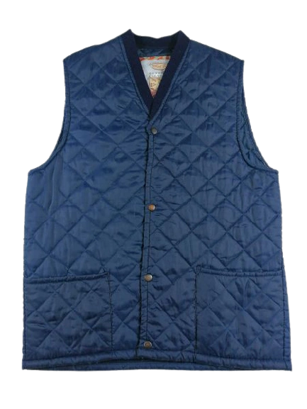 Vintage quilted body warmer gillet sleeveless UK M-L