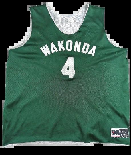 green vintage basketball vest reversable size large