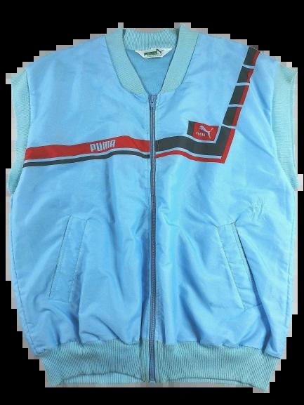 80's oldskool puma sleeveless jacket UK XL