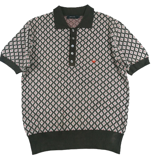 UK L Vintage Northern soul knitted polo