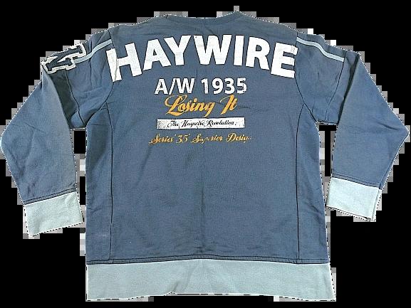 90's Vintage jumper grey UK M