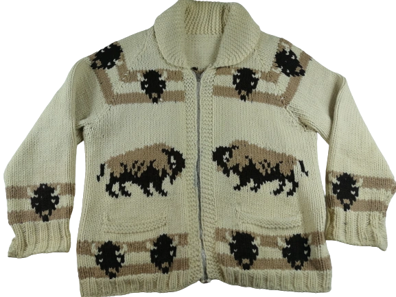 Truly vintage chunky knit Icelandic jumper UK L
