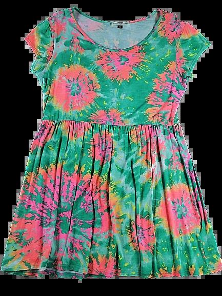 UK 12 Vintage summer dress pink green