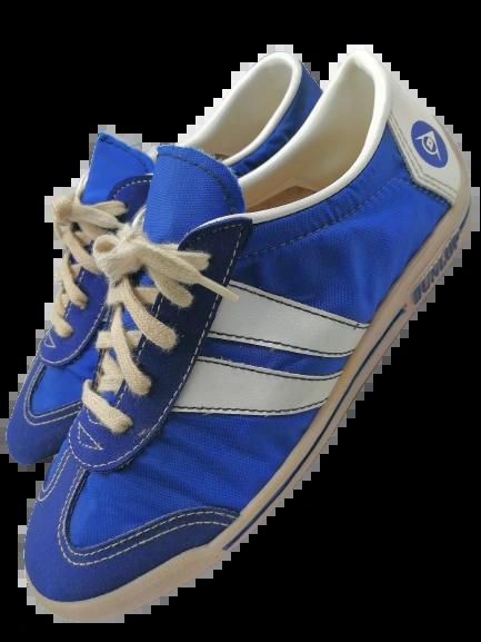 1976 true vintage Dunlop pumps blue size UK 4