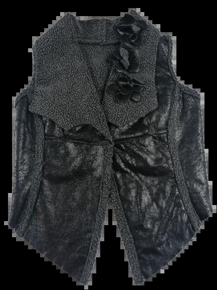 UK M Retro waistcoat women's Black