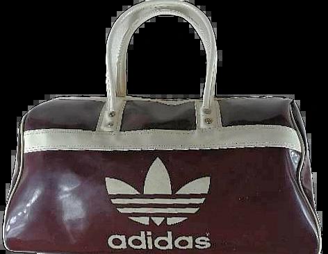 Womens Vintage adidas overnight luggage bag