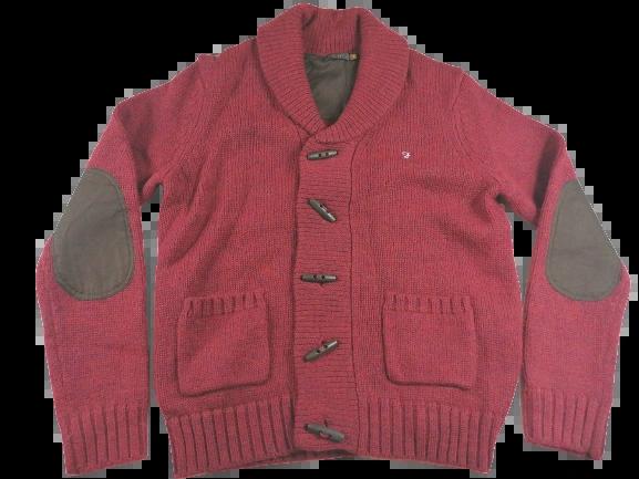UK L Farah chunky knit cardigan