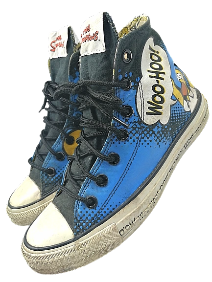 Size 5 limited Simpsons Converse sneakers UK5 2013