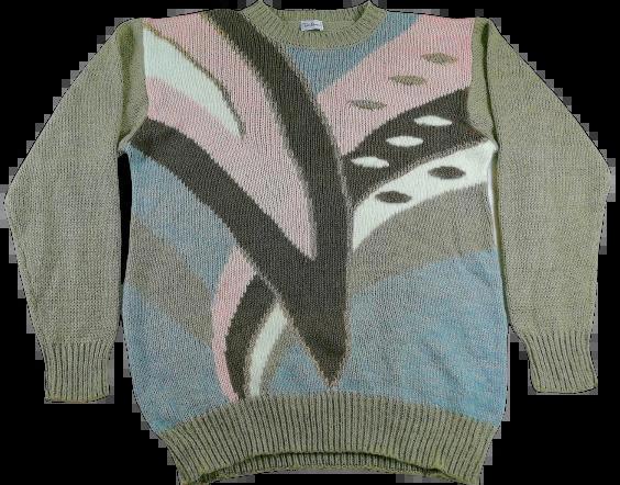 UK L Original Vintage pattern jumper
