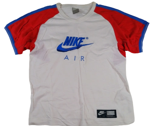 UK S Oldskool Nike t-shirt blue red