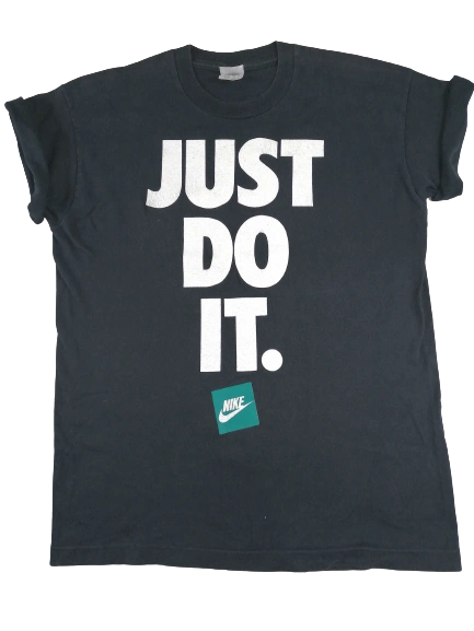 UK M original Nike just do it t-shirt 2001