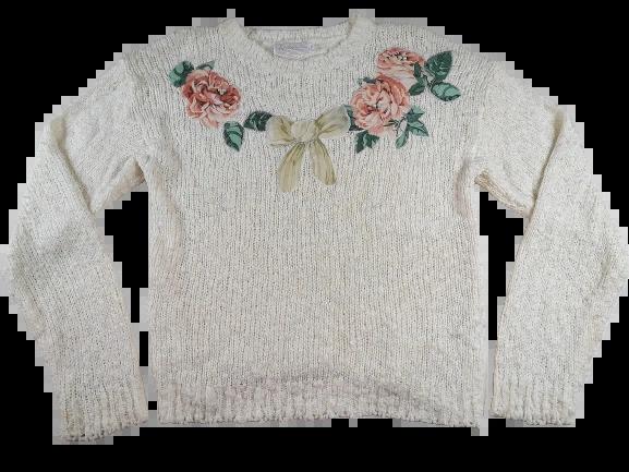 UK M-L oldskool vintage women's knitted jumper