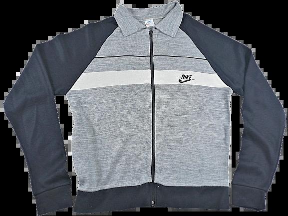 UK M Nike grey flex tracktop 1986