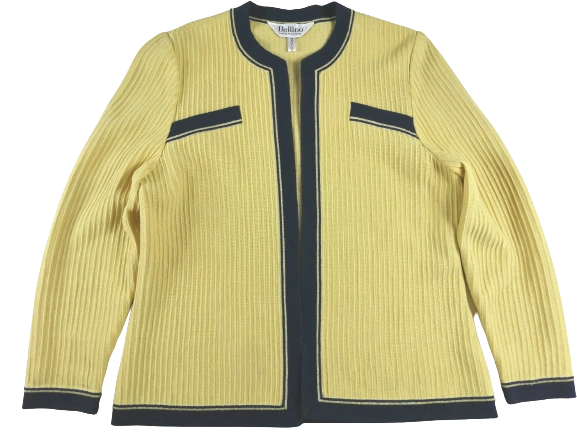 UK 16 vintage women's blazer yellow 90's