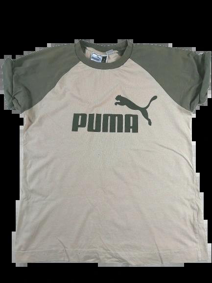 UK S oldskool puma spellout t-shirt 90's