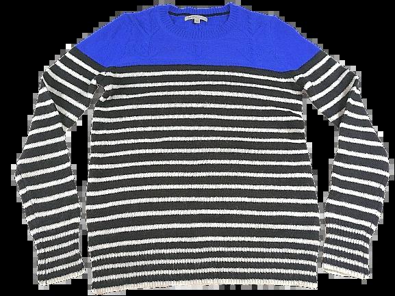 UK S blue black sweater gap
