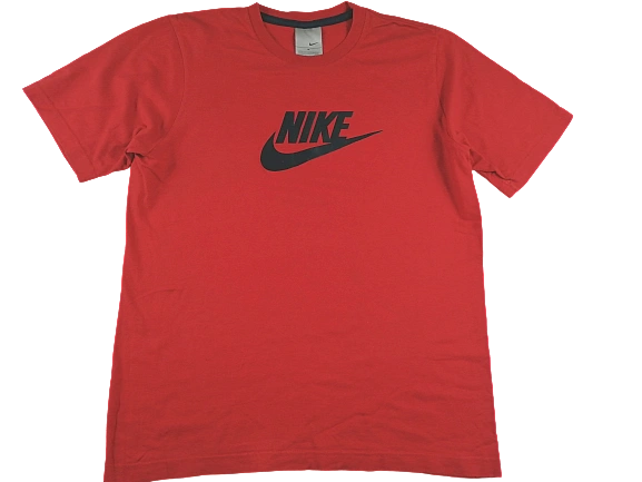 UK M Red Nike oldskool t-shirt 2003