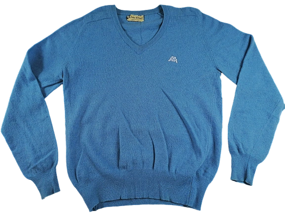 UK S Robe de kappa pure wool jumper 1980's