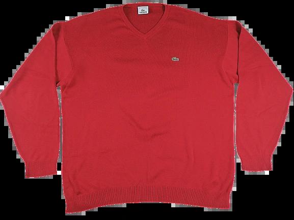 UK XL true vintage lacoste sweatshirt Red