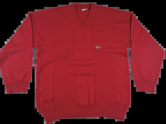 UK XL vintage Red lacoste jumper 90's
