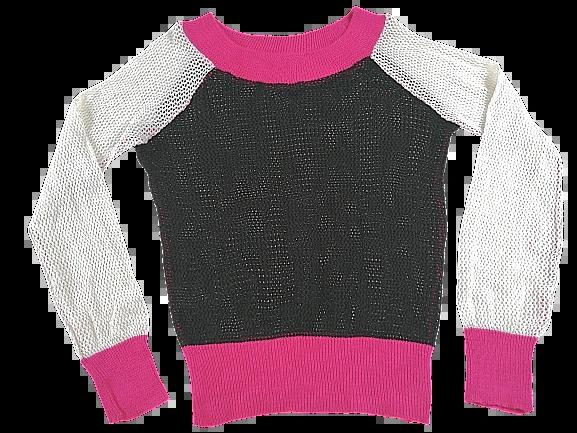 UK L womens mesh jumper 1990'ss