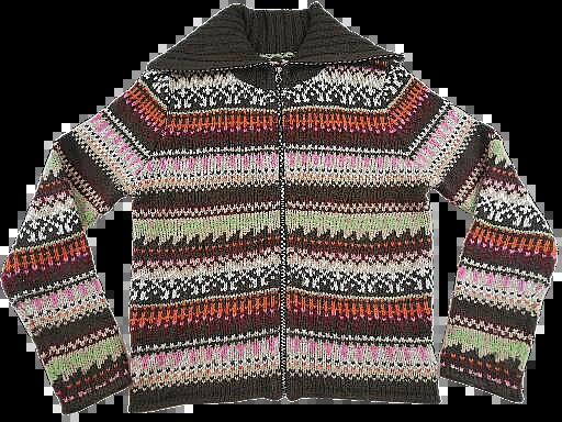 UK M womens cardigan vintage pattern 90's