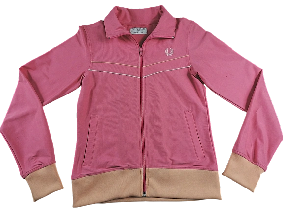 UK 10 Womens fred perry vintage tracktop pink 2002