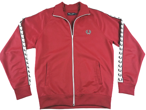 UK M mens fred perry reissue tracktop Red