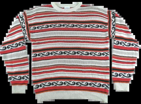 UK L Womens Vintage striped jumper pattern 90's