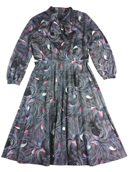 UK M size 14 True vintage Northern soul flare dress