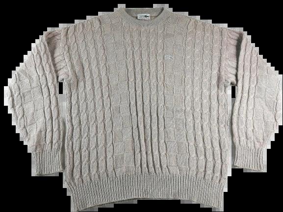 UK XL original 80's vintage lacoste wool jumper