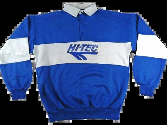 UK L 80's true vintage hi tec Rugby shirt