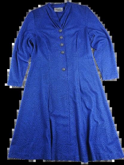 UK 16 true vintage dress blue flare