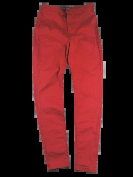 UK 14 long red super skinny jeans