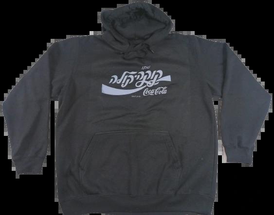 UK L vintage Black logo hoodie