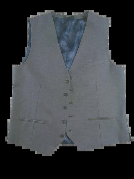 UK L Grey waistcoat Button front
