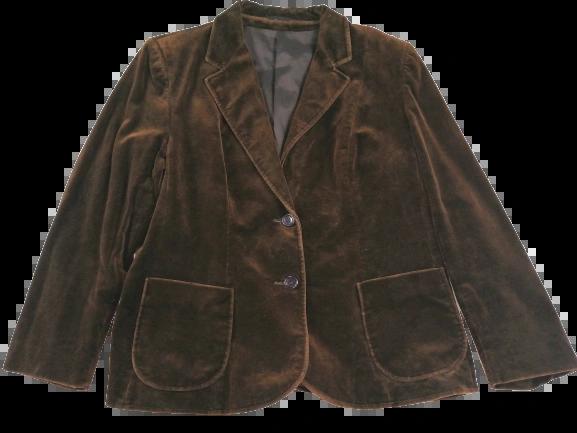 UK M brown velvet blazer jacket.