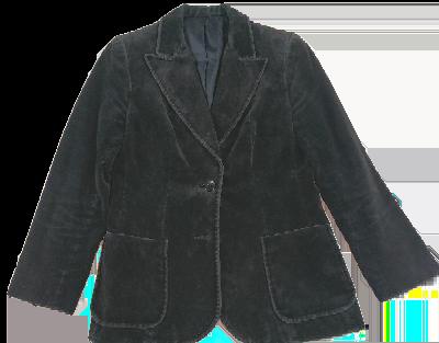 UK 10 velvet blazer Black women's