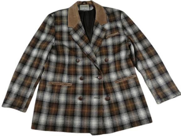 UK M-L Womens 90's vintage checked blazer