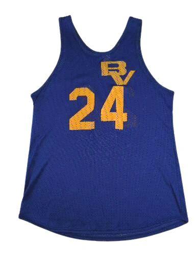 UK M blue basketball vest blue belt is 90's